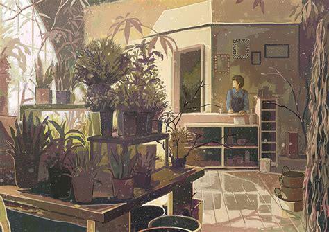 flower shop store zerochan anime image board