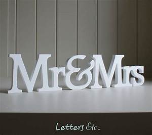 Personalised 39mr mrs39 wooden name letters by letters etc for Personalised mr and mrs letters