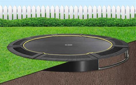 bodentrampolin  ground capital play  black trampolin boden
