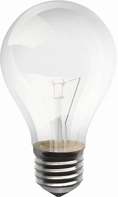 Bulb Transparent Clipart Lightbulb Lamp Lighting Icon