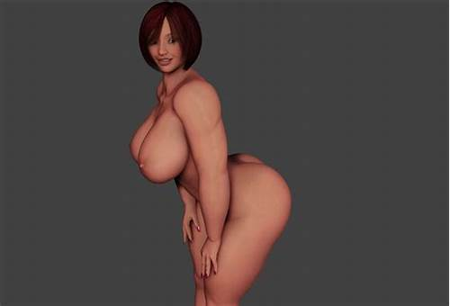 Tall Classy Woman With Shorthair Cutie #3D #Young #Woman #With #Few #Hair #Is #Whole #On #The #Edge #Of #Milk