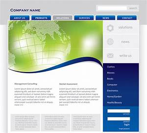 Four simple web page template vector material website for Simple homepage template
