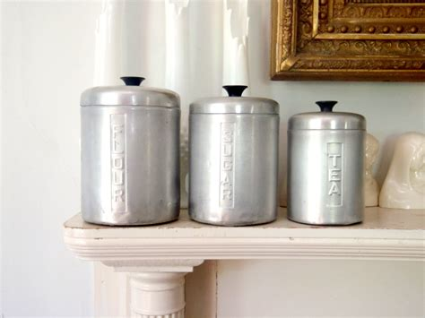 antique kitchen canisters metal kitchen canister set vintage storage tins