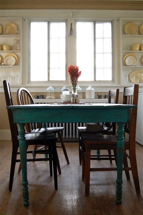 teal kitchen table 1000 images about cece caldwell chalk paint ideas on