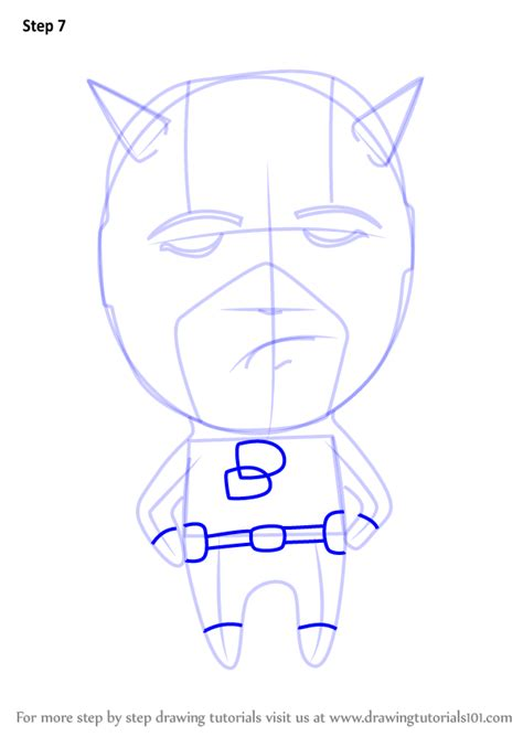 learn   draw chibi daredevil chibi characters step