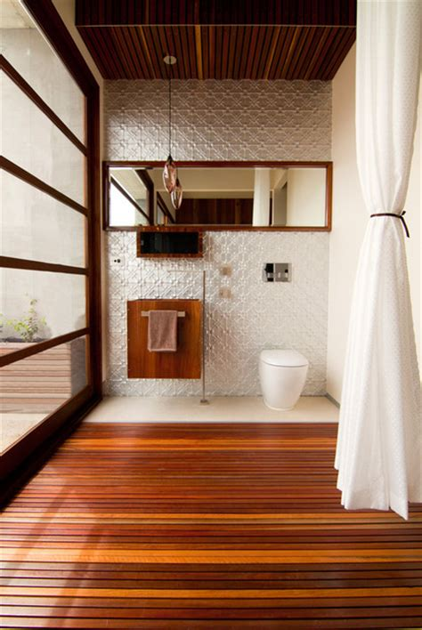 resort penthouse ensuite bathroom contemporary powder room melbourne  alsocan architects