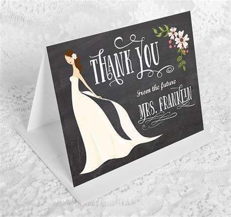 thank you card bridal shower template 16 bridal shower thank you cards psd eps ai free