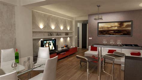 Einrichtung Kleiner Kuechemoderne Kleine Kueche Im Wohnzimmer 3 by Bilder 3d Interieur Wohnzimmer Rot Wei 223 3