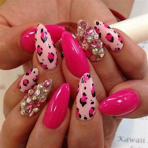 Like pointy sharp nails but these are just too cute great nail