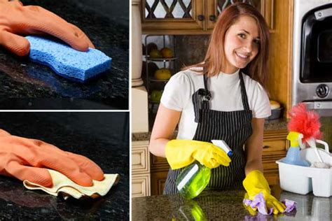 a guide to cleaning kitchen granite worktops