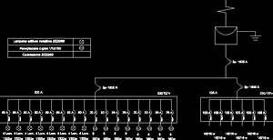 Electric Diagram Unifila Dwg Detail For Autocad  U2022 Designs Cad