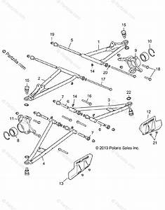 Polaris Side By Side 2016 Oem Parts Diagram For Suspension  Front Control Arms All Options