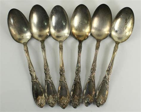 Vintage 1881 Rogers Silverplate 6pc Lot Teaspooons La Vigne Grape Pattern 1908 Antique Chinese Bedside Tables Wooden Beds Cape Town Rugs Los Angeles Pocket Watches Melbourne Daybed Uk Wood Burning Stoves Colorado Day Brisbane Toys Only