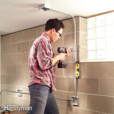 How To Install Surface Mounted Wiring And Conduit Garage