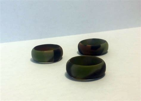 mens camo silicone wedding ring band military army