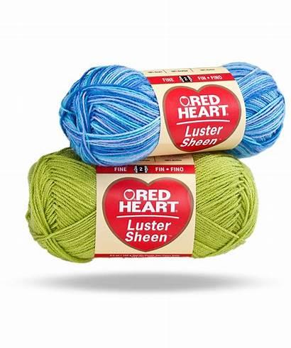 Yarn Heart Sheen Luster Crochet Bernat Weight