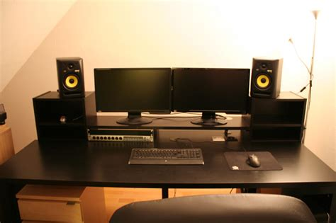 ikea studio desk hack music producer desk i see what you did there