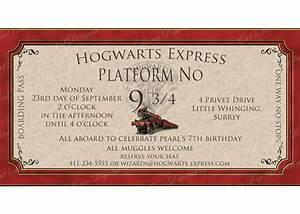 Hogwarts Harry Potter Printable Invitation By Catsmeowddesigns