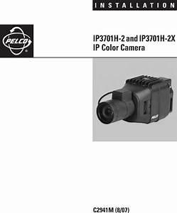 Pelco Security Camera C2941m Users Manual Ip3701h 2 And 2x