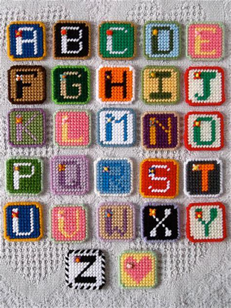 plastic canvas alphabet tiles