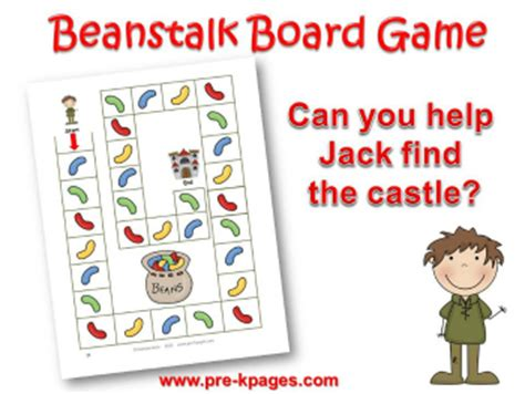 and the beanstalk preschool activities 231 | jack and the beanstalk board game