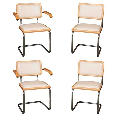 set of four marcel breuer quot cesca quot chairs for sale at 1stdibs