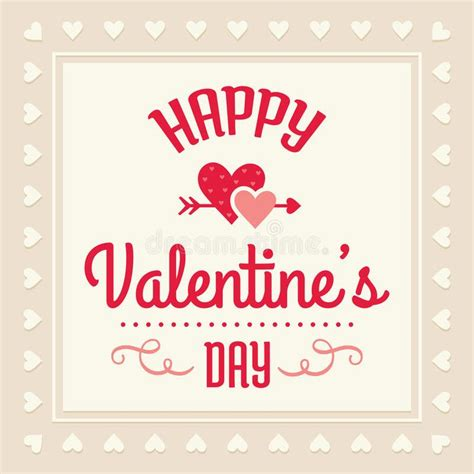 happy valentines day card stock vector