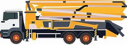 Concrete Vector Truck Pump Clip Illustrations Similar