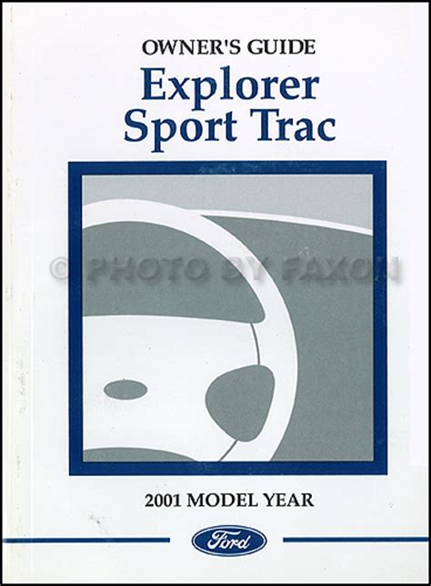 ford explorer sport trac owners manual original