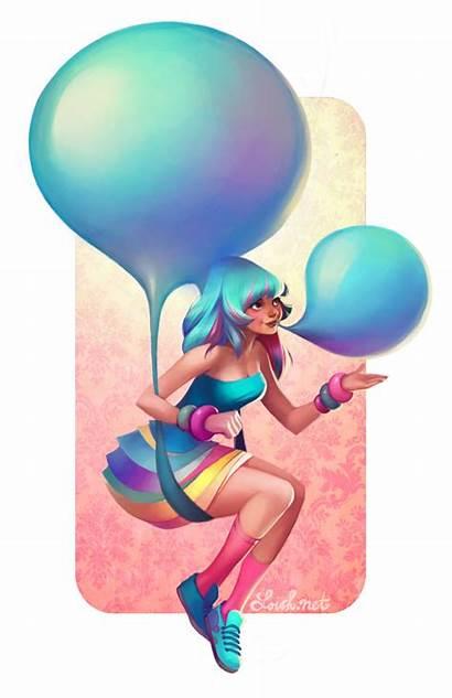 Bubblegum Loish Balloons Deviantart Ouam Baarle Lois