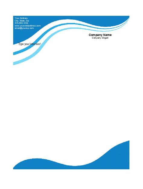 letterhead design 45 free letterhead templates exles company business personal