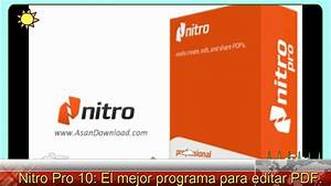 Nitro Pro 10  El Mejor Programa Para Editar Pdf