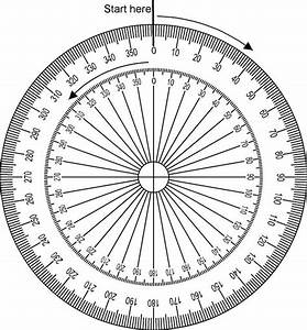 full circle protractor 360 degree sketch coloring page With full circle protractor template