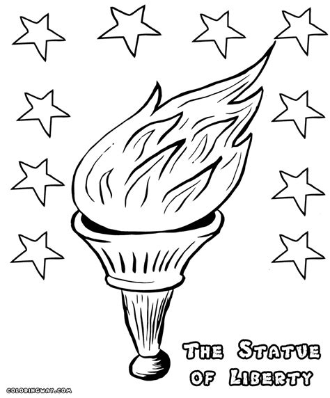 statue  liberty coloring pages coloring pages    print