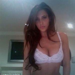 Kim Kardashian Strips Down To Skimpy Lingerie For Selfish