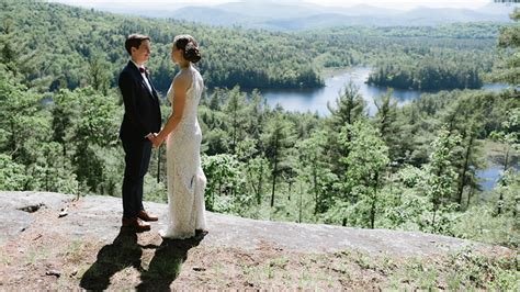 Summer Camp Wedding In The Adirondack Mountains