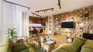 Mur Tv Bois : habiller un mur en 30 id es inspirantes et originales ~ Teatrodelosmanantiales.com Idées de Décoration