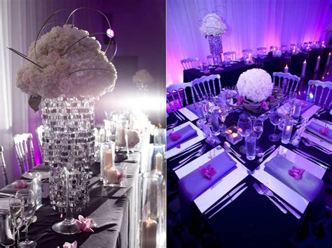 Purple And White Decoration For Wedding by Black And Purple Wedding Table Decorations Pictures To Pin