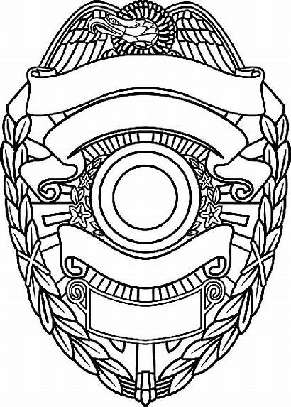 Template Badge Police Clipart Sheriff Clip Shield
