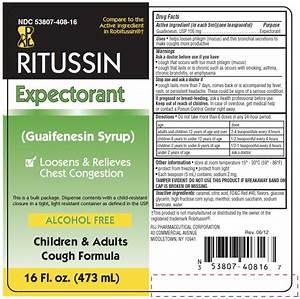 Glucose Color Chart Ritussin Expectorant Liquid Rij Pharmaceutical Corporation