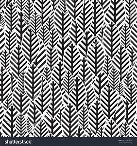 Seamless Black And White Leaf Pattern Stock Vector ...