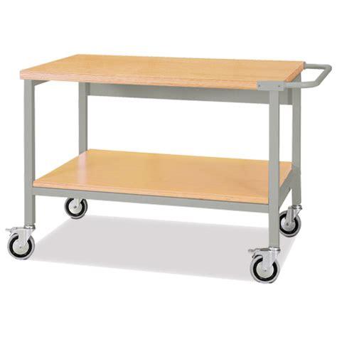 arbeitstisch mit rollen und 2 etagen tragkraft 500 kg