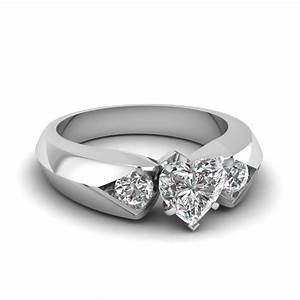 engraved round solitaire milgrain engagement ring in white With heart shaped wedding rings for women