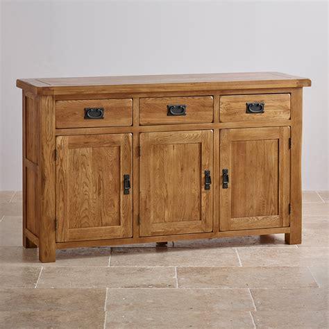 Original Rustic Large Sideboard In Solid Oak Oak