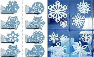 Flocon De Neige En Papier Facile Maternelle : schneeflocken basteln und die wohnung zu weihnachten sch n dekorieren ~ Melissatoandfro.com Idées de Décoration