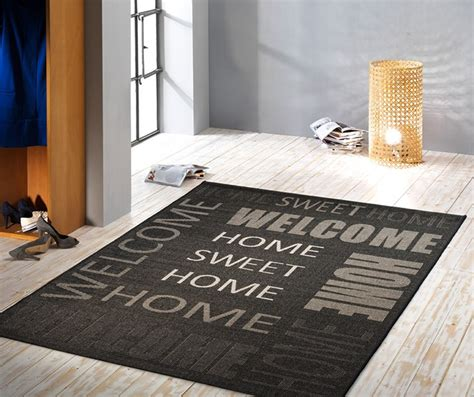 Welcome To The New Home Designing by Flachgewebe Designer Teppich 180 Welcome 180 Sisal Optik In