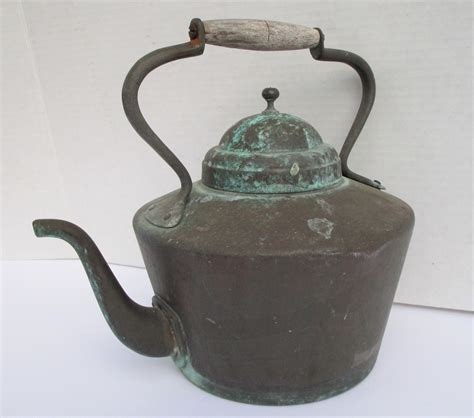 kettle copper french patinated