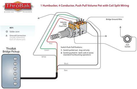 Push Pull Wiring Diagram by Throbak Push Pull Coil Split Humbucker Guitar