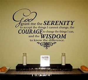 serenity prayer vinyl wall art decal god grant me the With great ideas serenity prayer wall decal