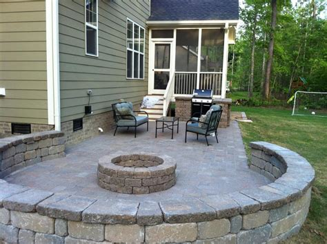 pictures patios patios retaining walls cary landscape inc